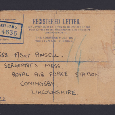 Registered letter envelope